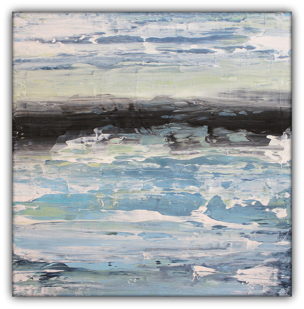 Tide Flow - Heavy Texture Acrylic Painting - The Modern Home Co. by Liz Moran