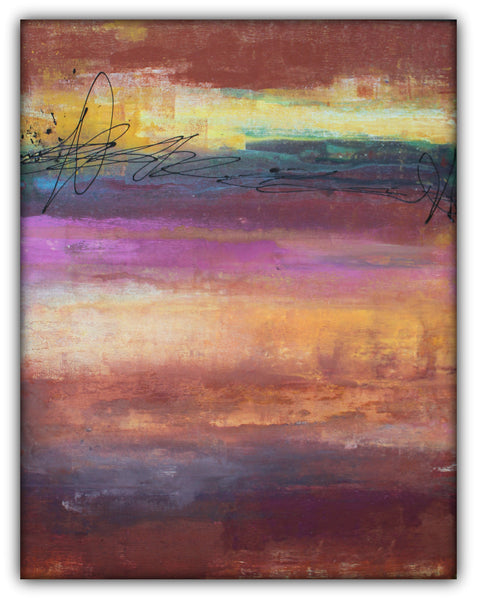 Afternoon Haze - Abstract Acrylic Painting - The Modern Home Co. by Liz Moran