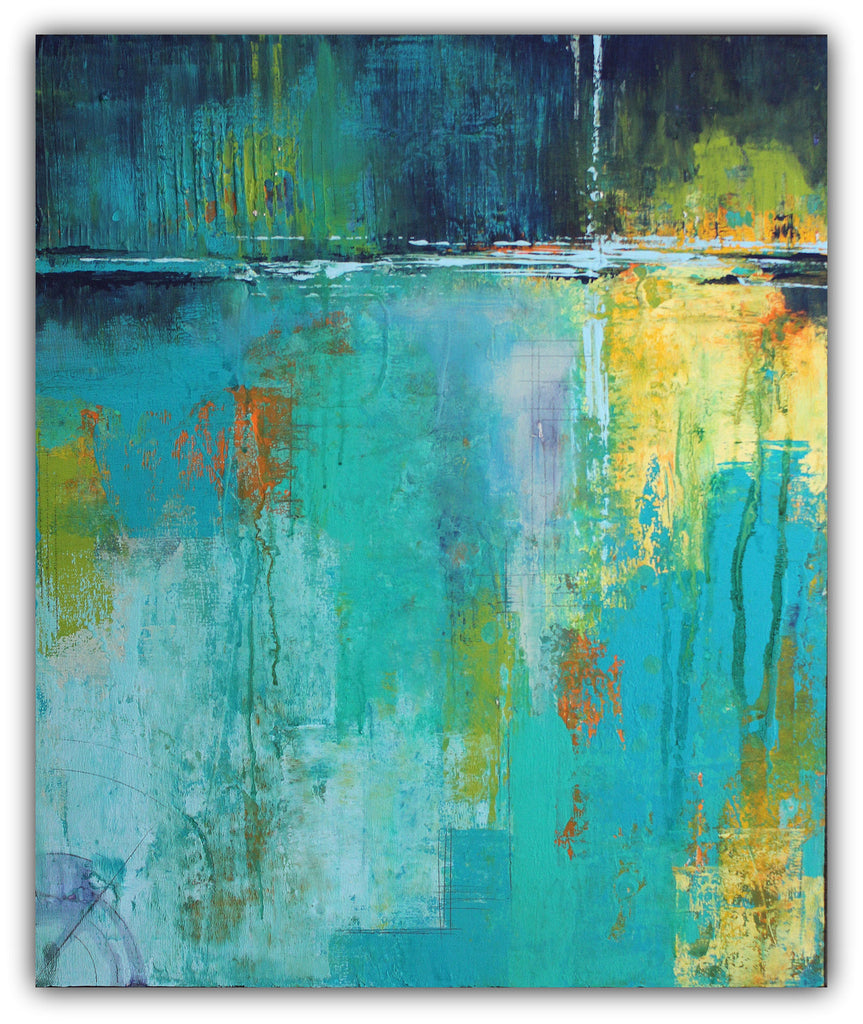Tranquil Nights - Urban Abstract Painting on Canvas