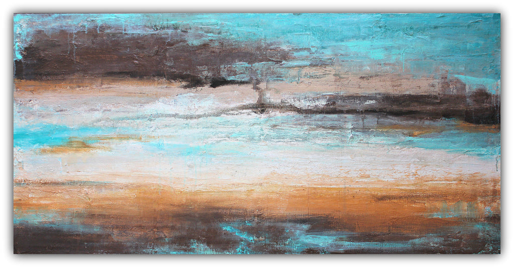Sea Breeze - Landscape Painting - The Modern Home Co. by Liz Moran