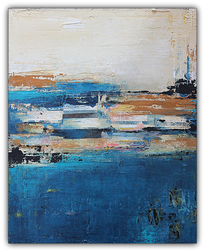 Nautical Impressions - Mixed Media Painting - The Modern Home Co. by Liz Moran
