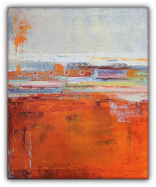 Santa Fe Vibes - Mixed Media Painting on Canvas - SOLD - The Modern Home Co. by Liz Moran