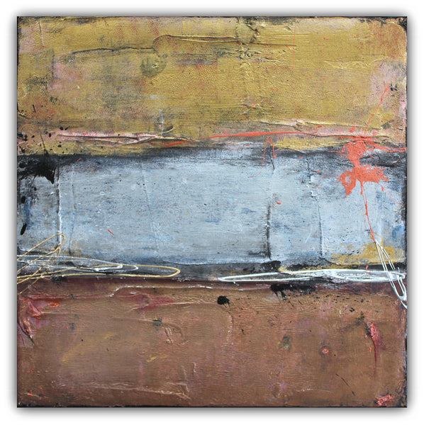 Silver Line - Metallic Painting on Canvas - The Modern Home Co. by Liz Moran