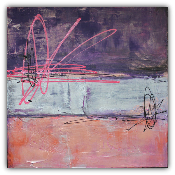 Sugar Plum - Abstract Metallic Art - The Modern Home Co. by Liz Moran