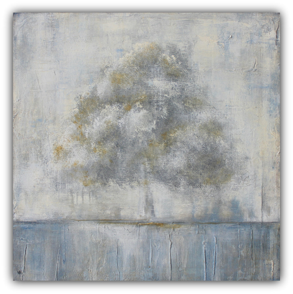 Be Still - Abstract Tree Landscape Painting - SOLD - The Modern Home Co. by Liz Moran