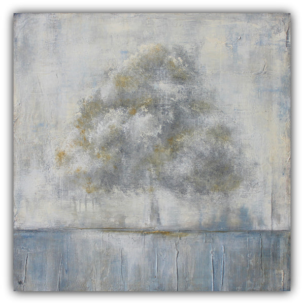Be Still - Abstract Tree Landscape Painting - SOLD