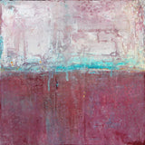 Raspberry Champagne - Abstract Canvas Painting