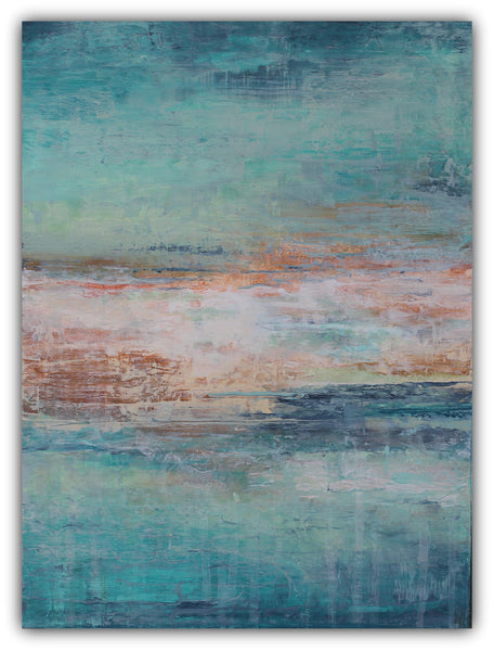 Island Tides - Textured Abstract Painting - The Modern Home Co. by Liz Moran