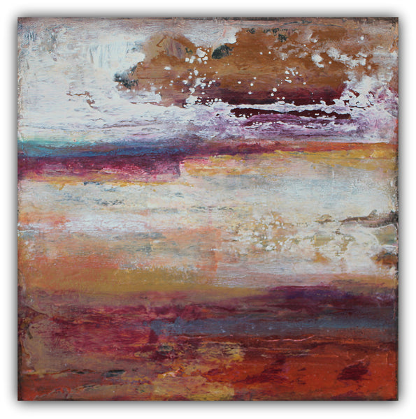 Red Rock Canyon - Textured Abstract Art - The Modern Home Co. by Liz Moran