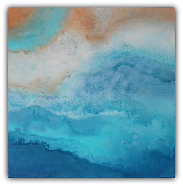 Beach Layers - Abstract Landscape Painting - The Modern Home Co. by Liz Moran