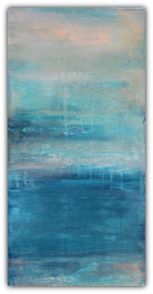 Raindrops - Abstract Painting - The Modern Home Co. by Liz Moran