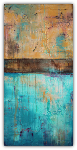 Mermaid Dreams - Texture Abstract Painting - The Modern Home Co. by Liz Moran