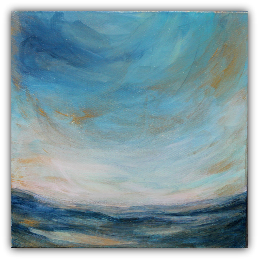 "Abstract Seascape Painting ""View from Portside"" - The Modern Home Co. by Liz Moran"