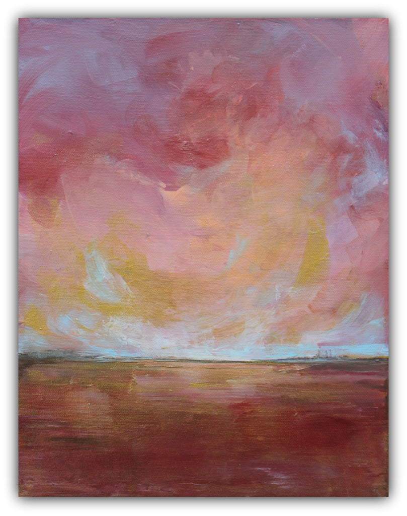 "Contemporary Landscape Painting ""Sunburst"" - The Modern Home Co. by Liz Moran"