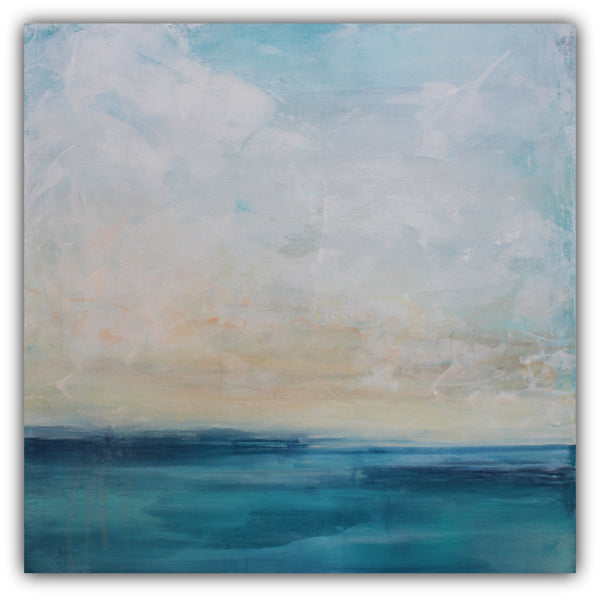 "Seascape Painting ""Cloud Piers"" - The Modern Home Co. by Liz Moran"