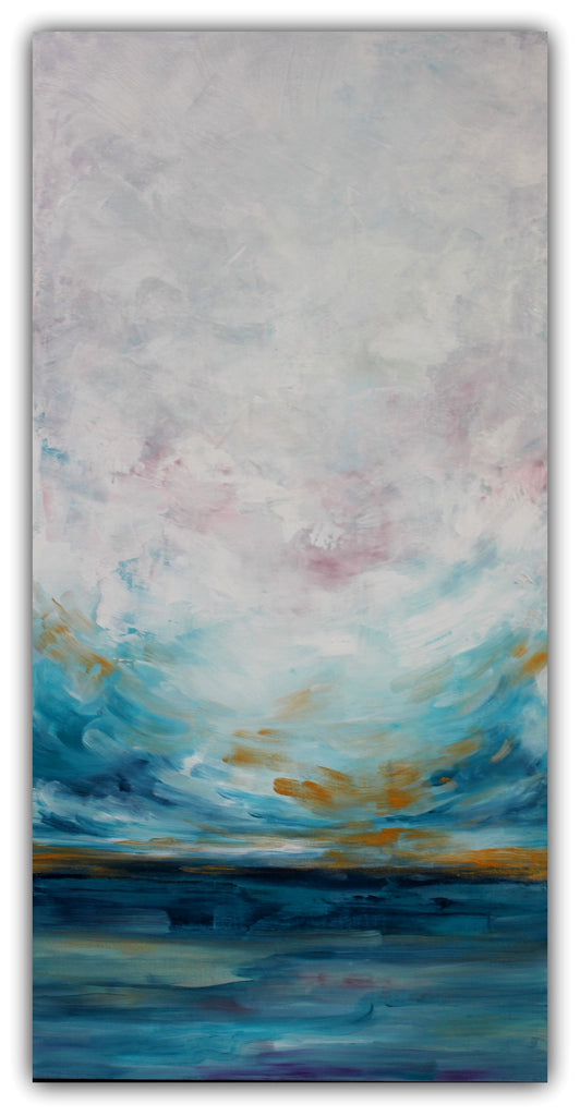 Out to Sea - Abstract Seascape Painting