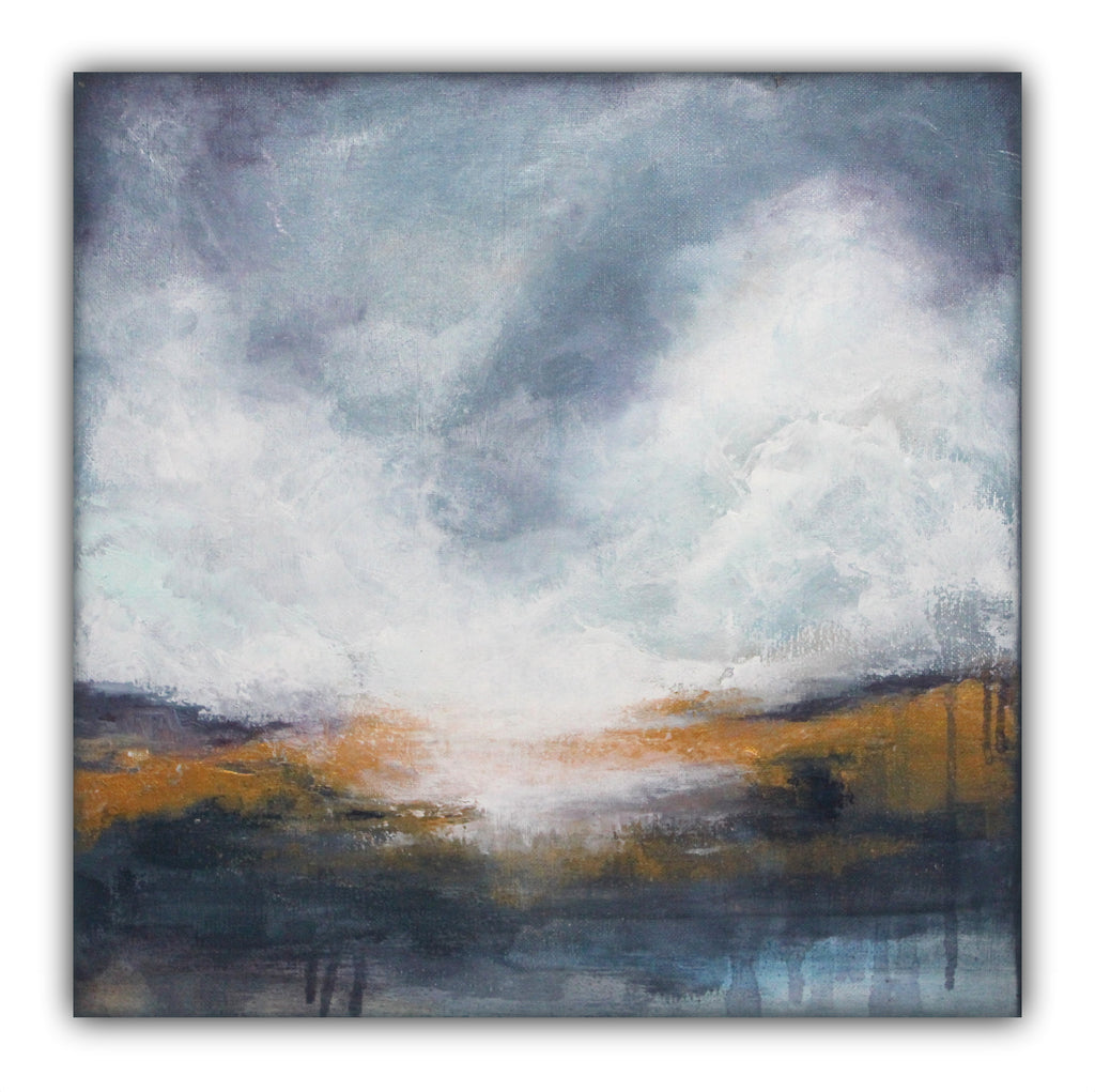 "Abstract Landscape Painting ""Morning Mist"" - The Modern Home Co. by Liz Moran"