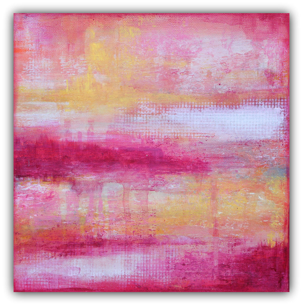 Sherbet - Modern Texture Abstract Painting - The Modern Home Co. by Liz Moran