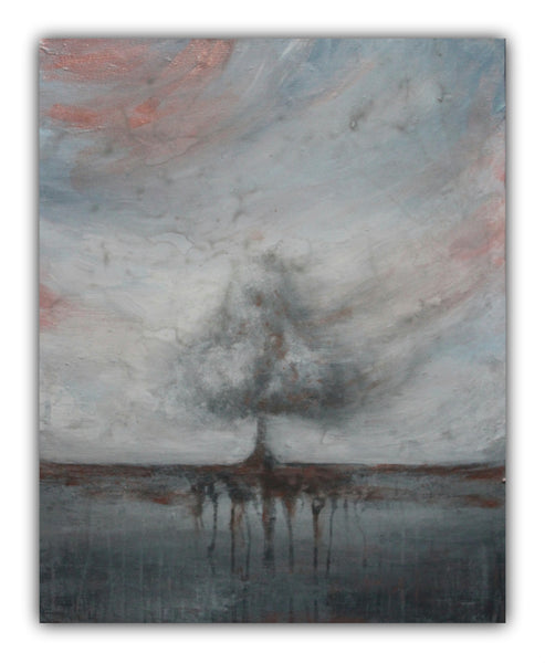 "Grey Tree Landscape Painting ""Whisked Away"" - The Modern Home Co. by Liz Moran"