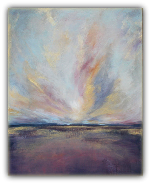 "Purple Landscape Painting ""Rise"" - The Modern Home Co. by Liz Moran"