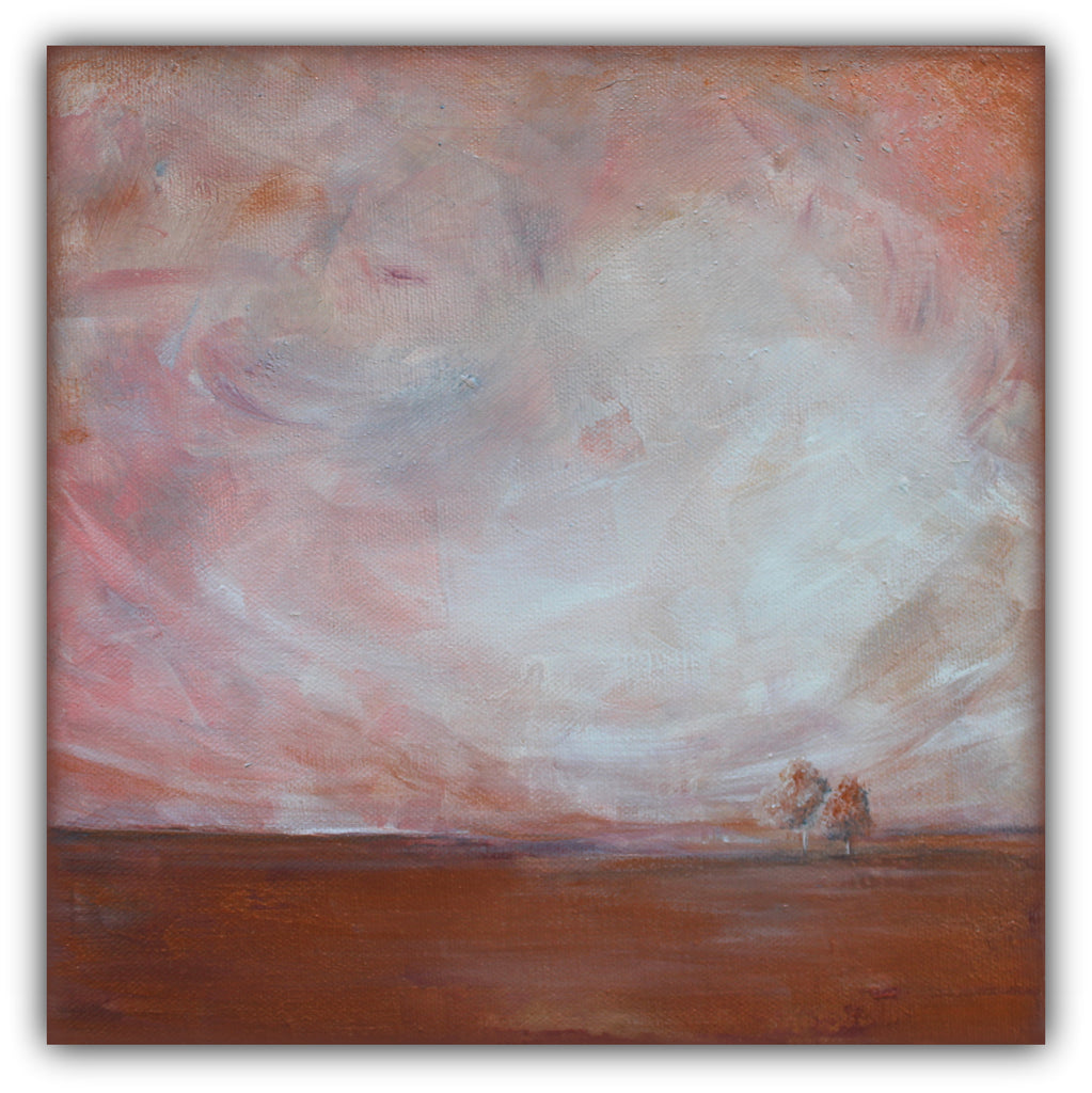 "Pink Landscape Painting ""Quite Distance"" - The Modern Home Co. by Liz Moran"