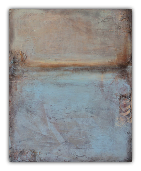 Recollections - Texture Abstract Painting - SOLD - The Modern Home Co. by Liz Moran