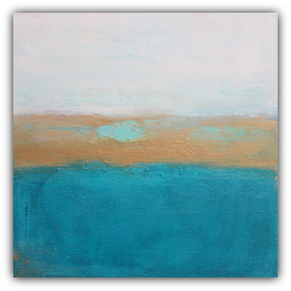 Underwater - Coastal Abstract Painting - The Modern Home Co. by Liz Moran