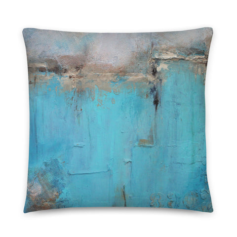 Blue and White Decorative Pillow