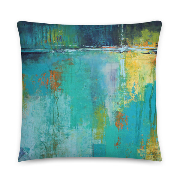 Tranquil Nights - Urban Abstract Throw Pillow