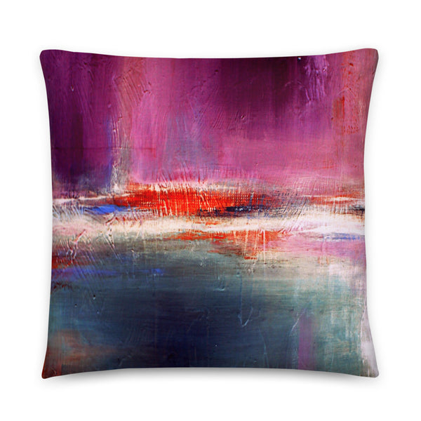 Romance – Purple and Blue Throw Pillow