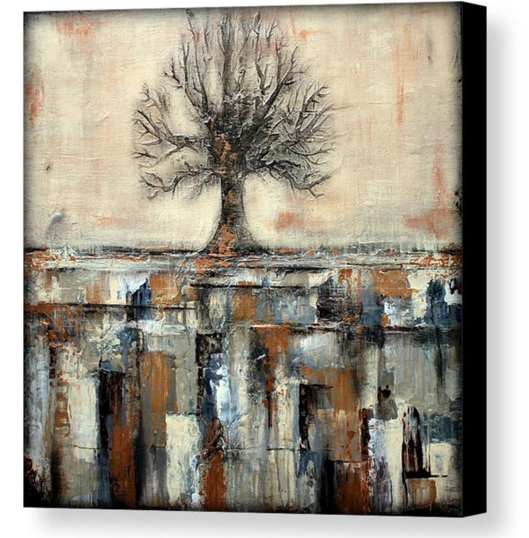Canvas Tree Print - Landscape Art - Gold and Brown Wall Decor - The Modern Home Co. by Liz Moran