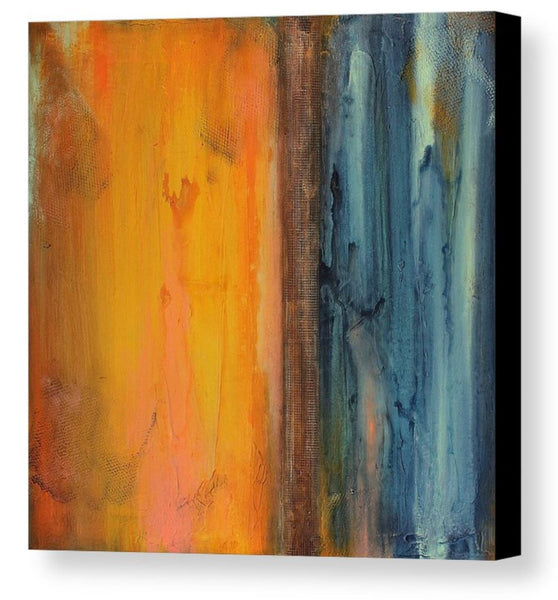 Seascape Canvas Print - Orange and Blue Wall Decor - Art Print - The Modern Home Co. by Liz Moran