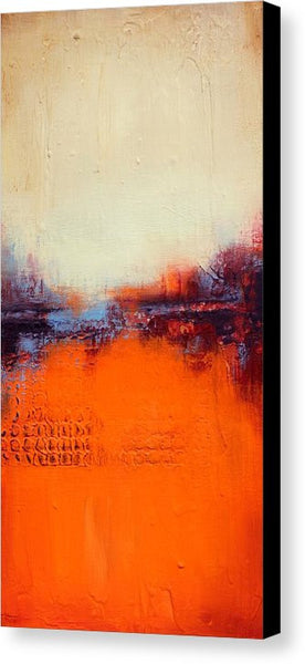 Orange and White Art - Canvas Print - Landscape Art - The Modern Home Co. by Liz Moran