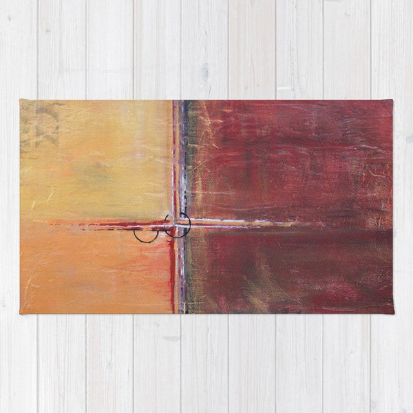 Cargo - Red and Gold Area Rug - The Modern Home Co. by Liz Moran