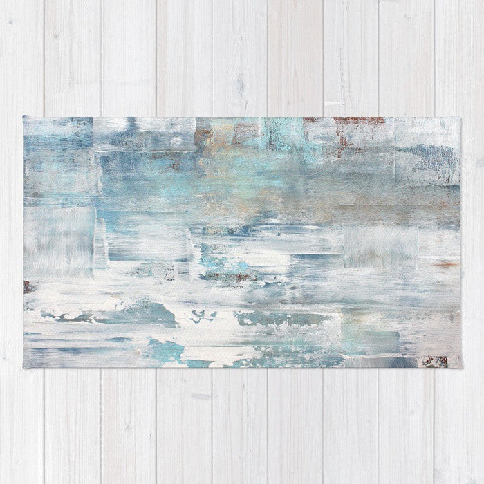 Frost - Blue and White Area Rug - The Modern Home Co. by Liz Moran