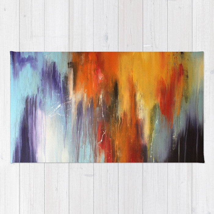 Galaxy - Abstract Area Rug - The Modern Home Co. by Liz Moran