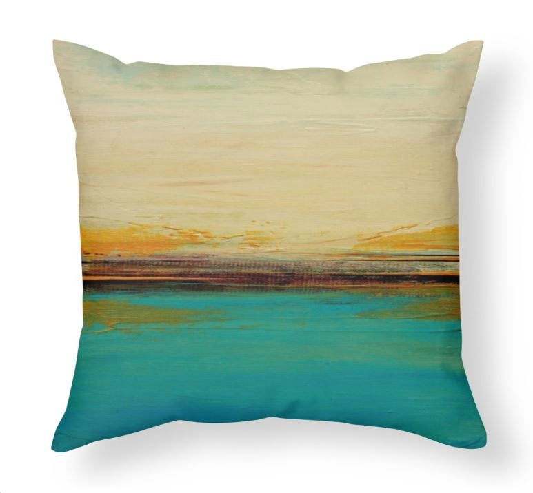 Horizon - Large Blue and White Pillow - The Modern Home Co. by Liz Moran
