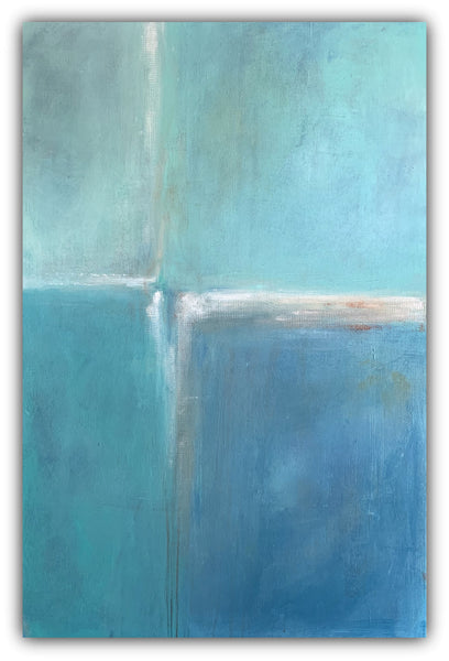 Spa Daze - Color Block Abstract Painting - The Modern Home Co. by Liz Moran