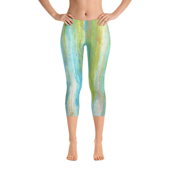 Spring Harmony - Capri Leggings - The Modern Home Co. by Liz Moran