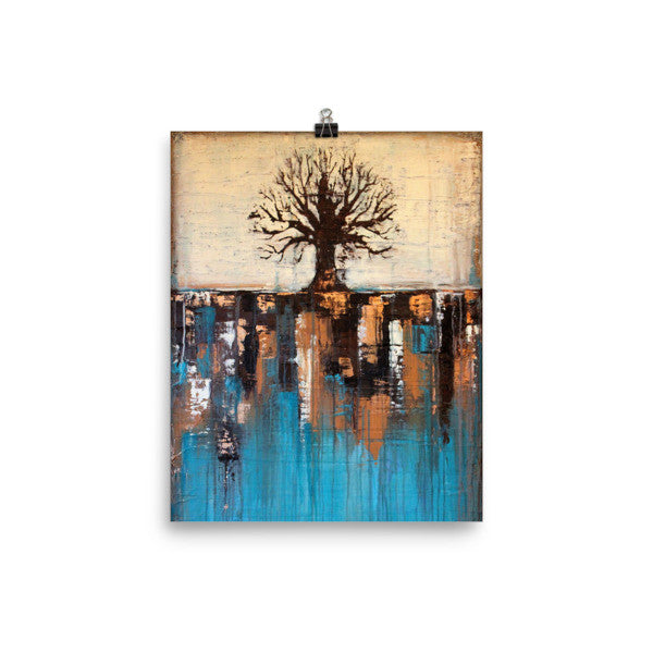 Teal and Brown Landscape - Poster Print - Wall Decor - The Modern Home Co. by Liz Moran