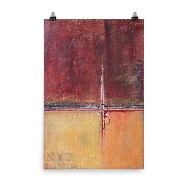 Cargo - Red and Gold Wall Art - Contemporary Art Poster