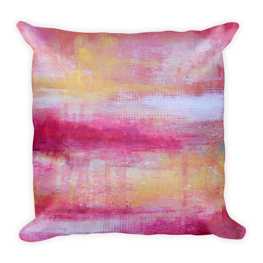 Sherbet - Modern Throw Pillow - The Modern Home Co. by Liz Moran