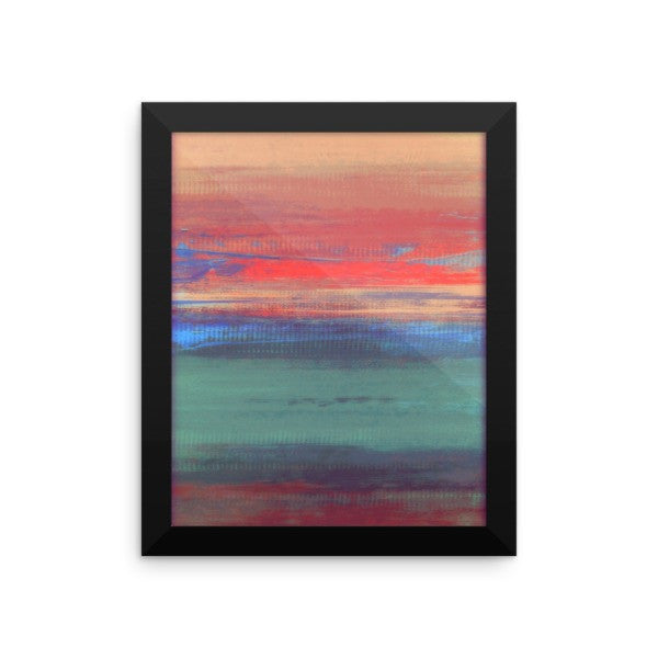 Umbre Art - Abstract Landscape - Framed Art Print - The Modern Home Co. by Liz Moran