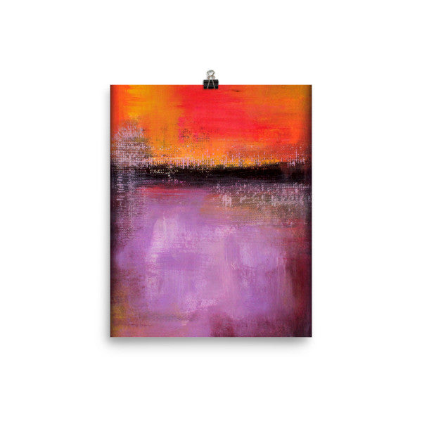 Sunset - Purple and Orange Art Print - Poster Print