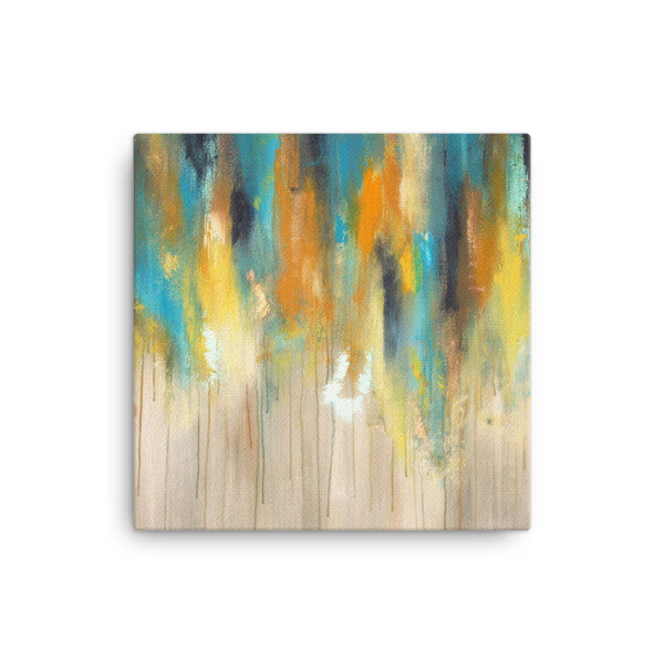 Blue and Yellow Canvas Art - Large Canvas Print - Modern Wall Decor