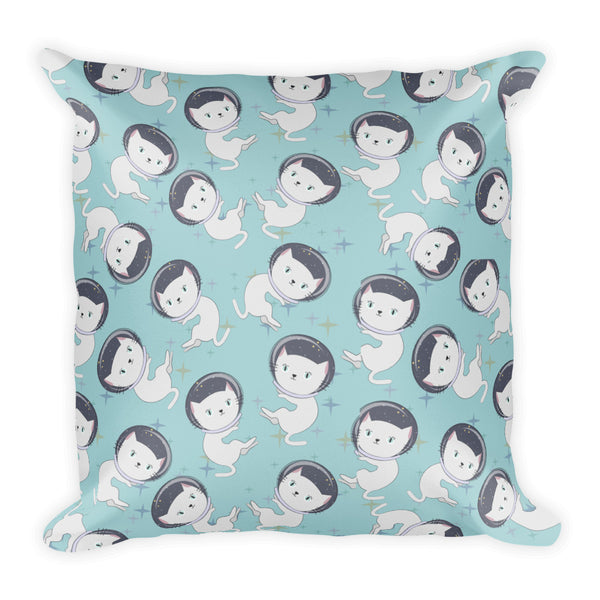 Space Cats Teal Pillow - The Modern Home Co. by Liz Moran