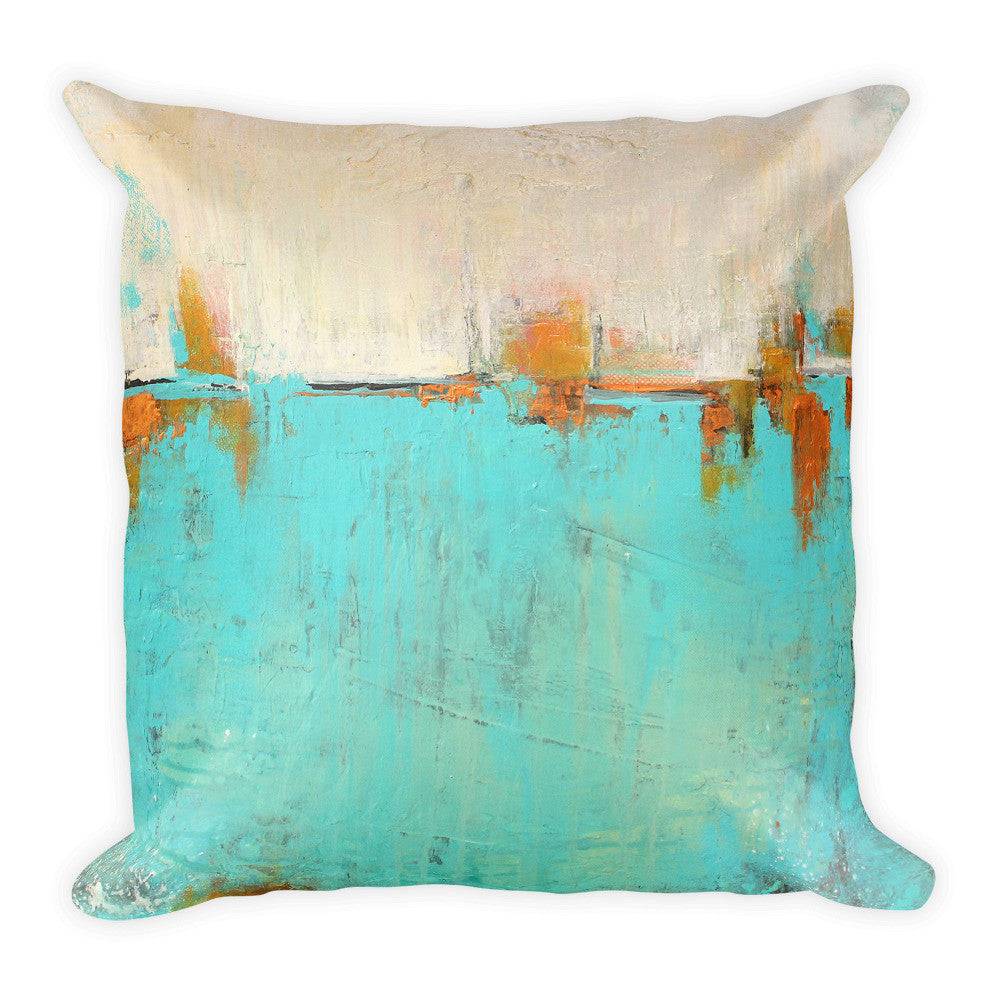 "Sea of Whispers - 18"" Throw Pillow"