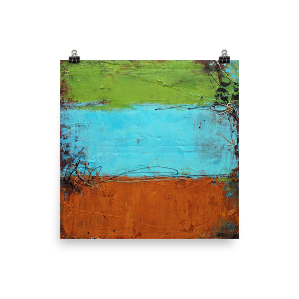 Rusted Garffiti - Urban Abstract Poster Print - The Modern Home Co. by Liz Moran