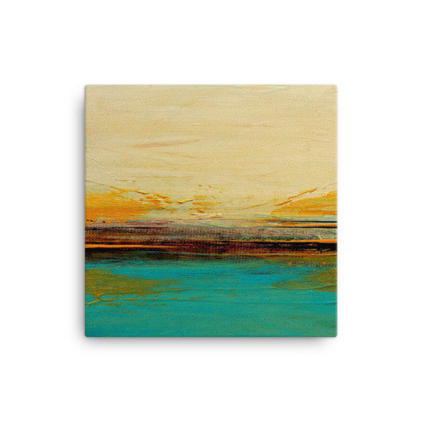 Abstract Seascape Canvas – Blue and White Wall Art – Canvas Print
