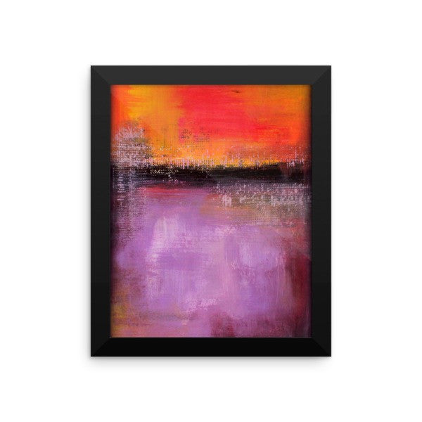 Abstract Sunset - Purple and Orange Wall Art - Framed Poster - The Modern Home Co. by Liz Moran